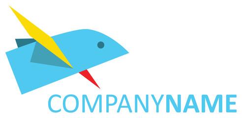 Flying paper bird logo
