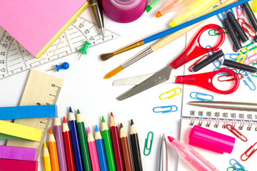 Schulsachen Stillleben
