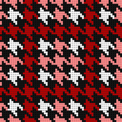 Photo sur Plexiglas Pixel houndstooth plaid