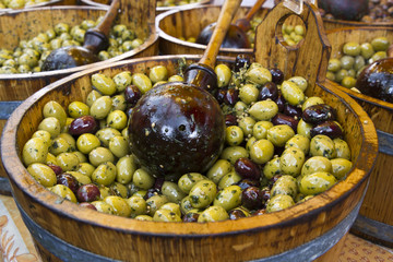 Olives from the Borough Market in London