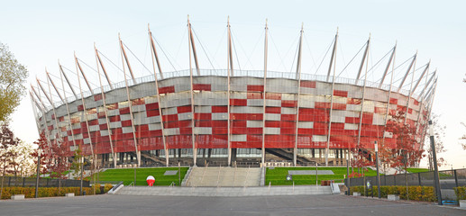 Poster de jardin Stade de football National stadium Warsaw - Poland