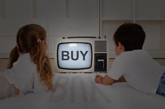 Kids watching television - mental imprinting