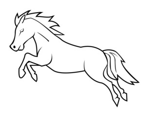 Vector illustration of horse jump