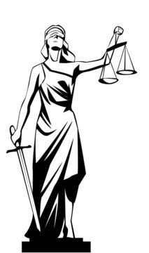 Vector illustration of lady justice