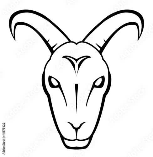 """goat face"" Stock image and royalty-free vector files on ... Goat Face Side Drawing"