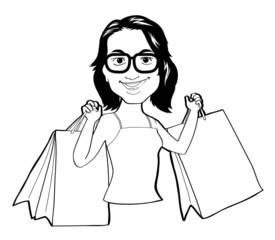 woman shopping vector Illustration