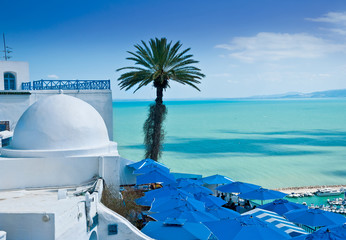 Papiers peints Tunisie Sidi Bou Said, Tunis