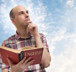 man reading English
