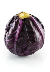 A head of purple cabbage. Shot on white background.