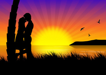 couple inlove on the beach