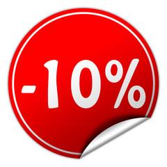 -10% discount sticker