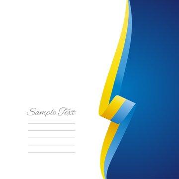 Ukrainian right side brochure cover vector
