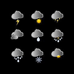 icons for weather forecast vector illustration