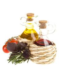 Red Wine Vinegar and sunflower oil