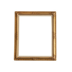 Luxurious photo frame isolated on white background