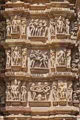 Khajuraho Temple carvings.