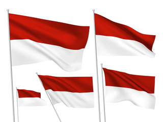 Indonesia vector flags