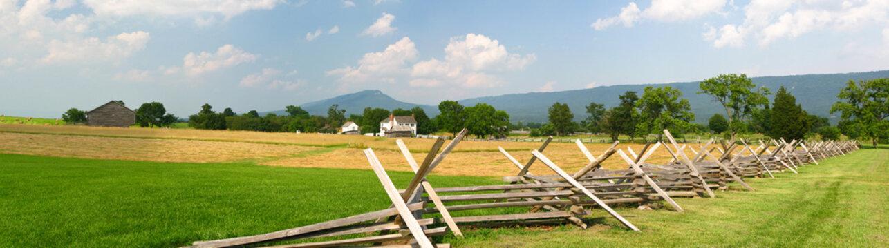 Panorama of NewMarket Battlefield