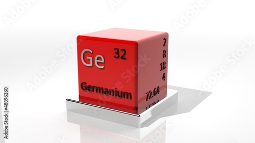 Germanium 3d Chemical Element Of The Periodic Table Stock Photo