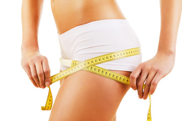 healthy body with tapemeasure