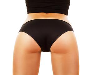 woman buttocks in black panties
