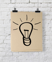 poster with lightbulb