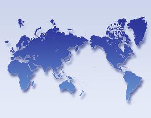 Poster Carte du monde ワールドマップ