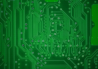 Green circuit plate background