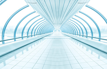 Stores à enrouleur Tunnel spacious diminishing transparent hallway