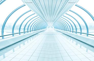 Poster Tunnel spacious diminishing transparent hallway