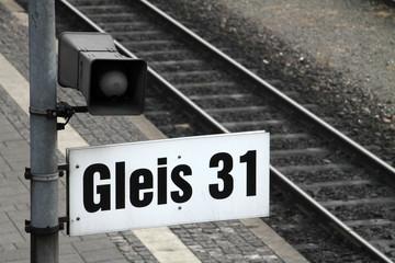 Fototapete - Gleis 31