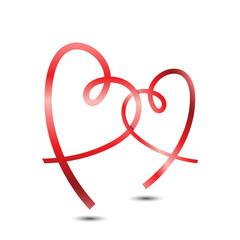 Stylish Ribbon Hearts
