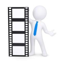 3d man holding a film