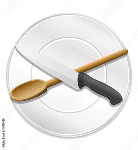 Ic ne cuisine ic ne plat recette ou chef fichier vectoriel libre de droits sur la banque d - Recette cuisine gratuite ...