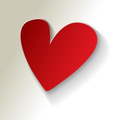Valentines Papier  Herz