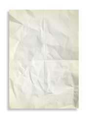 Old folded sheet of paper