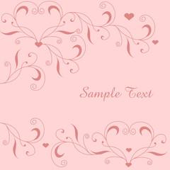 Floraler Hintergrund mit Herz in Rosa
