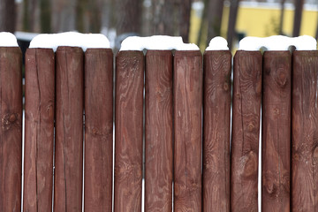 Fototapeta Płot drewniany z kołków. obraz