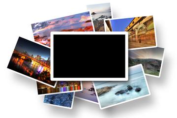 Photos isolated on white background