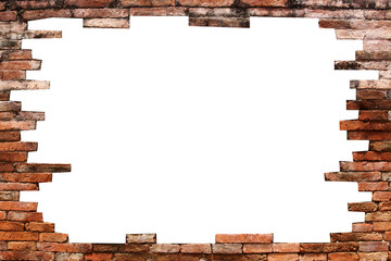 porous wall for background, isolated on white