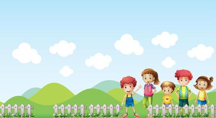 Kids in the farm