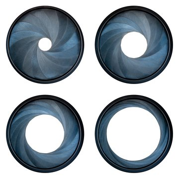 camera shutter aperture blades