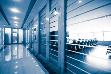 office corridor door glass