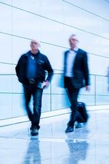 blurred businessmen
