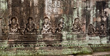 Angkor - Bas-relief  of Preah Khan temple, Siem Reap, Cambodia