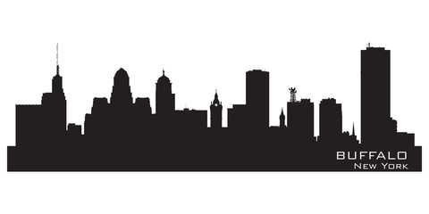 Buffalo, New York. Detailed city silhouette