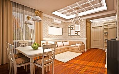Classical interior. living room