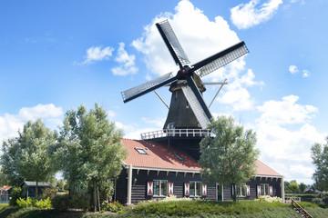 Dutch mill on a sunny day