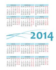 Pocket russian 2014 calendar
