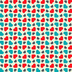 Vintage seamless pattern of  hearts
